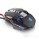 baratos Tapete de Mouse-Com Fio Gaming mouse Peso ajustável DPI ajustável Retroiluminado Multifunções 1200/1600/2400/3200