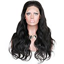 cheap Human Hair Wigs-Remy Human Hair Glueless Lace Front / Lace Front Wig Wavy / Body Wave Wig 150% / 180% Natural Hairline / African American Wig / 100% Hand Tied Women's Medium Length / Long Human Hair Lace Wig