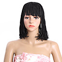 cheap Hair Braids-Synthetic Wig Synthetic Hair 100% kanekalon hair Wig Capless