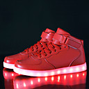 cheap Décor Lights-Women's Shoes Leatherette Fall / Winter Comfort / Light Up Shoes Sneakers Walking Shoes Low Heel Hook & Loop / LED Black / Silver / Red