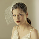 cheap Wedding Decorations-One-tier Cut Edge Wedding Veil Blusher Veils 53 Ruffles Tulle