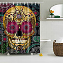 cheap Stretched Canvas Prints-Shower Curtains & Hooks Polyester Skull Hand Made