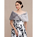 cheap Wedding Wraps-Faux Fur Wedding / Party / Evening Women's Wrap With Rhinestone Capelets