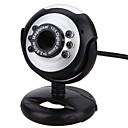 halpa Webkamerat-webcam pc kamera USB-portilla säädettävä pidike sisäänrakennettu mikrofoni tuki äänenvoimakkuuden säädin led-valo