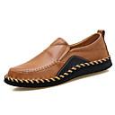 זול נעלי ספורט לגברים-בגדי ריקוד גברים עור נאפה Leather כל העונות נוחות נעליים ללא שרוכים שחור / חום / בורדו