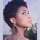 cheap Human Hair Capless Wigs-Human Hair Capless Wigs Human Hair Curly Jerry Curl For Black Women African American Wig Short Machine Made Wig Women's