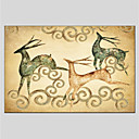 cheap Landscape Paintings-Oil Painting Hand Painted - Animals Classic Canvas