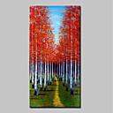 baratos Pinturas Paisagens-Pintura a Óleo Pintados à mão - Paisagem Abstracto Modern Incluir moldura interna / Lona esticada