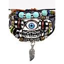 cheap Bracelets-Men's Strand Bracelet / Leather Bracelet - Leather Evil Eye Personalized, Hip-Hop Bracelet Black For Stage / Street