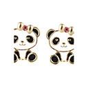 olcso Divat fülbevalók-Női Beszúrós fülbevalók - Panda, Állat Fekete Kompatibilitás Ünnepség / Új Év