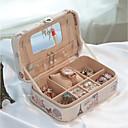 זול אחסון תכשיטים-טֶקסטִיל פלסטי אובלי בית אִרגוּן, 1pc אחסון מייקאפ קופסאות תכשיטים מארגני תכשיטים