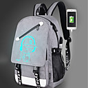 cheap High School Bags-Bags Canvas Backpack Zipper for Outdoor Black / Gray