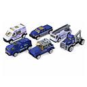 baratos Caminhões de brinquedo e veículos de construção-Carro de Polícia Caminhões & Veículos de Construção Civil Carros de Brinquedo 1:64 Crianças Para Meninos Para Meninas Brinquedos Dom