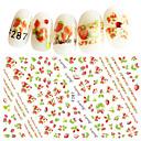 cheap Rhinestone & Decorations-1 pcs 3D Nail Stickers Nail DIY Tools Full Nail Stickers nail art Manicure Pedicure 3D Fashion Daily