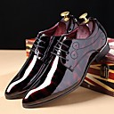 cheap Men's Boots-Men's Printed Oxfords Patent Leather Fall / Winter Oxfords Black / Royal Blue / Burgundy / Party & Evening / Lace-up / Party & Evening / Comfort Shoes / EU40