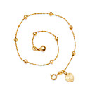 cheap Men's Bracelets-Anklet - Gold Plated Simple Style Gold For Going out / Beach / Women's