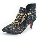 cheap Women's Slip-Ons & Loafers-Women's Shoes Sparkling Glitter / Paillette / Synthetic Fall / Winter Fashion Boots / Bootie Boots Stiletto Heel Pointed Toe Booties /