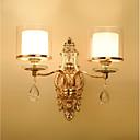 hesapli Duvar Aplikleri-ecolight ™ kristal duvar ışıkları 2 adet e14 40w / geleneksel / klasik duvar lambaları& aplikleri metal duvar ışık 220-240v