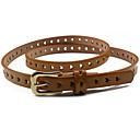 cheap Men's Bracelets-Women's Dress Belt Alloy Skinny Belt - Solid Colored Fashion