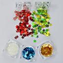 olcso Nail Glitter-5pcs/set Csillogás Körömékszerek Flitter Luxus / Flitter / Karácsony köröm művészet manikűr Pedikűr Karácsony / Parti / Napi Hópehely / Ragyogó és csillogó / Karácsony / Köröm ékszer