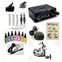 cheap Starter Tattoo Kits-Tattoo Machine Starter Kit - 1 pcs Tattoo Machines with 7 x 15 ml tattoo inks, Professional LED power supply Case Included 1 steel