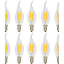 cheap LED Filament Bulbs-10pcs 6W 560lm E14 LED Filament Bulbs C35L 6 LED Beads COB Decorative Warm White / Cold White 220-240V / 10 pcs / RoHS
