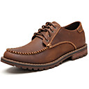 cheap Men's Boots-Men's Formal Shoes Nappa Leather Fall / Winter Oxfords Black / Coffee / Party & Evening