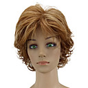 cheap Synthetic Capless Wigs-Synthetic Wig Curly Layered Haircut Synthetic Hair Highlighted / Balayage Hair Brown Wig Women's Short Capless Golden Brown