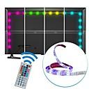 ieftine Jucării Magnet-2m Fâșii RGB 60 LED-uri 5050 SMD 1 44 Controlul telecomenzii RGB Ce poate fi Tăiat / USB / Rezistent la apă 5 V 1set / IP65 / De Legat / Auto- Adeziv