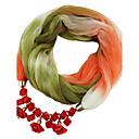 hesapli Parti Başlıkları-Kadın's Klasik & Zamansız Infinity Kaşkol - Modern Stil, Zıt Renkli