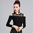 cheap Wall Stickers-Latin Dance Tops Women's Training Modal Lace Long Sleeves Natural Top