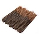 billige Hårfletter-Hår til fletning Heklet Vri Fletting 100% kanekalon hår / Kanekalon 30 røtter / pakke Hårfletter Medium Lengde