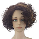 cheap Costume Wigs-Synthetic Wig Curly Synthetic Hair Highlighted / Balayage Hair / Middle Part Brown Wig Women's Medium Length Capless