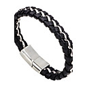 cheap Men's Bracelets-Men's Women's Leather Bracelet - Leather Simple Style, Fashion Bracelet Black For Casual Going out