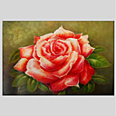 cheap Landscape Paintings-Oil Painting Hand Painted - Floral / Botanical Classic Canvas