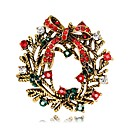 cheap Religious Jewelry-Brooches - Silver Plated, Gold Plated Flower Fashion Brooch Gold / Silver For Christmas / Party