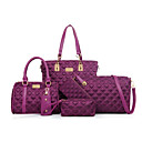 cheap Bag Sets-Women's Bags Nylon Bag Set Zipper Black / Blushing Pink / Purple