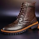 hesapli Erkek Atletik Ayakkabıları-Erkek Ayakkabı Deri Sonbahar / Kış Günlük Çizmeler Bootiler / Bilek Botları Günlük / Dış mekan için Bağcıklı Siyah / Kahverengi / Botinler / Combat Botları / EU40