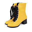 cheap Religious Jewelry-Women's Shoes PU(Polyurethane) Spring / Summer Comfort / Novelty / Fashion Boots Boots Flat Heel Round Toe Booties / Ankle Boots Lace-up