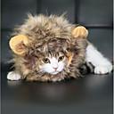 tanie Święta Bożego Narodzenia-Święta Bożego Narodzenia Peruka Słodki Lion Mane Halloween Faux Fur Na Zabawka dla kota