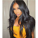 cheap Human Hair Wigs-Human Hair 360 Frontal Wig Indian Hair Straight Wig With Ponytail 130% For Black Women / 100% Virgin Women's Short / Medium Length / Long Human Hair Lace Wig