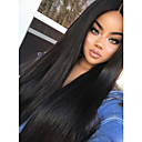 cheap Human Hair Wigs-Remy Human Hair Full Lace Wig Indian Hair Straight Wig 180% 100% Hand Tied Women's Long Human Hair Lace Wig
