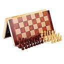 levne šachové hry-Chess Game Šachy Vzdělávací hračka Odstraňuje stres Dřevěný Dřevo 1pcs Dětské Unisex Dárek