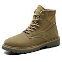 cheap Kitchen Cleaning Supplies-Men's Combat Boots Leather Fall / Winter Boots Black / Khaki