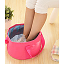 cheap Clothing Storage-Textile Plastic Oval Waterproof Pouches Portable Travel Home Organization, 1pc Laundry Bag & Basket
