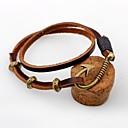 cheap Men's Bracelets-Men's / Women's Leather Bracelet - Leather Personalized, Vintage Bracelet Coffee For Casual / Going out