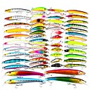 cheap Fishing Lures & Flies-57 pcs pcs Fishing Lures Hard Bait / Minnow / Crank Plastic / ABS Sea Fishing / Fly Fishing / Bait Casting / Ice Fishing / Spinning / Jigging Fishing / Freshwater Fishing / Carp Fishing