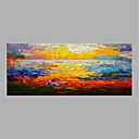 olcso Absztrakt festmények-Hang festett olajfestmény Kézzel festett - Landscape Absztrakt Vászon