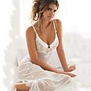 baratos Camisolas e Pijamas Femininos-Mulheres Super Sexy Super Sensual Chemise & Camisola Roupa de Noite Sólido