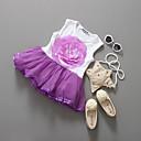 זול שמלות לבנות-שמלה כותנה קיץ ללא שרוולים חגים אחיד הילדה של תחרה סגול